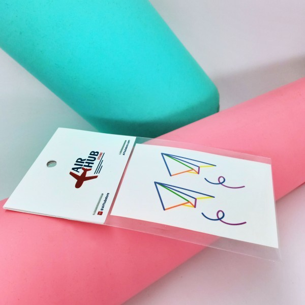 Temporary Tattoo Paper Plane