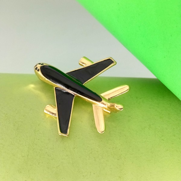 Brooch Black Plane