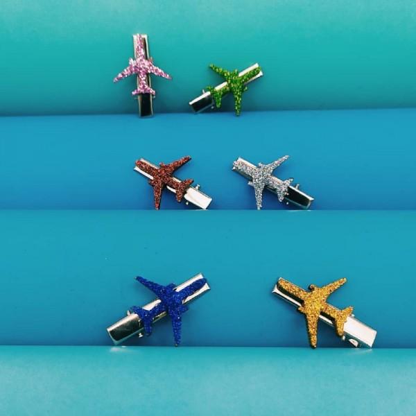 Wooden Airplane Barrette