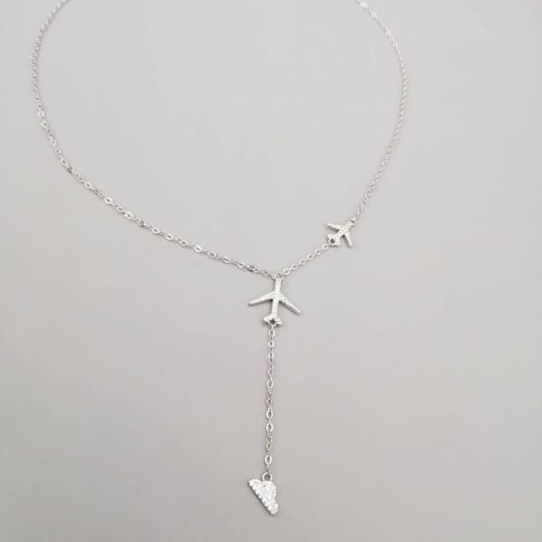 Necklace Silver 2 Planes